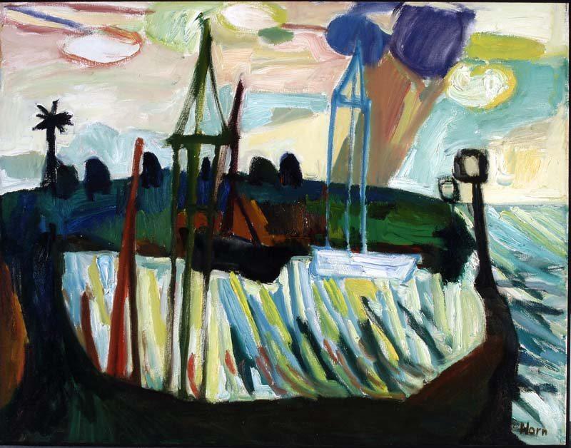 Lex Horn, Haventje Uitdam,1959