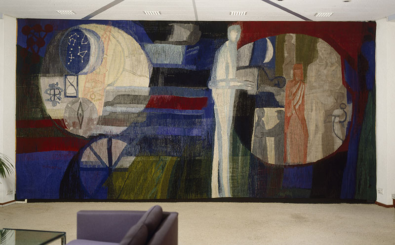 Lex Horn wandtapijt, directiekamer Philips Eindhoven , 1963 (verdwenen)