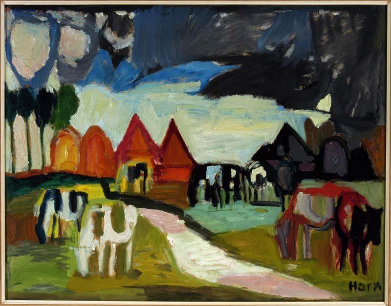 Lex Horn, Noord-Hollands Landschap, 1956