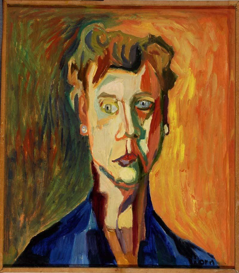 Lex Horn, portret van Noor van Wijngaarden, 1958