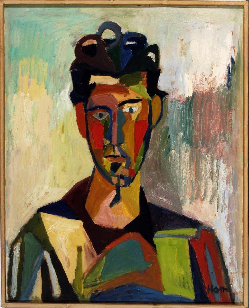 Lex Horn, zelfportret, 1960