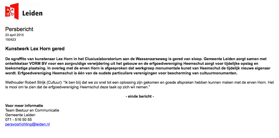 Persbericht-Kunstwerk-Lex-Horn-gered-