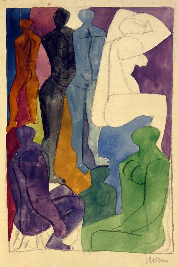 Compositie met vrouwenfiguur 1940