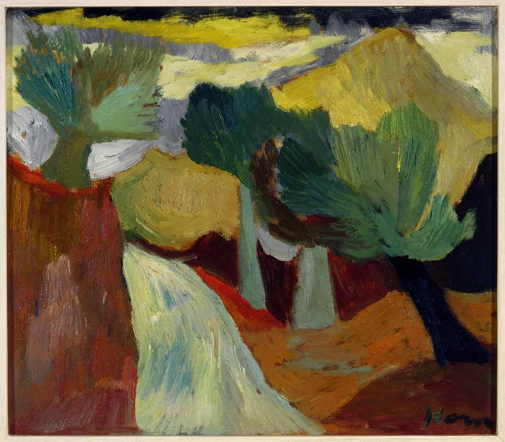 Lex Horn, De gele berg ca 1950