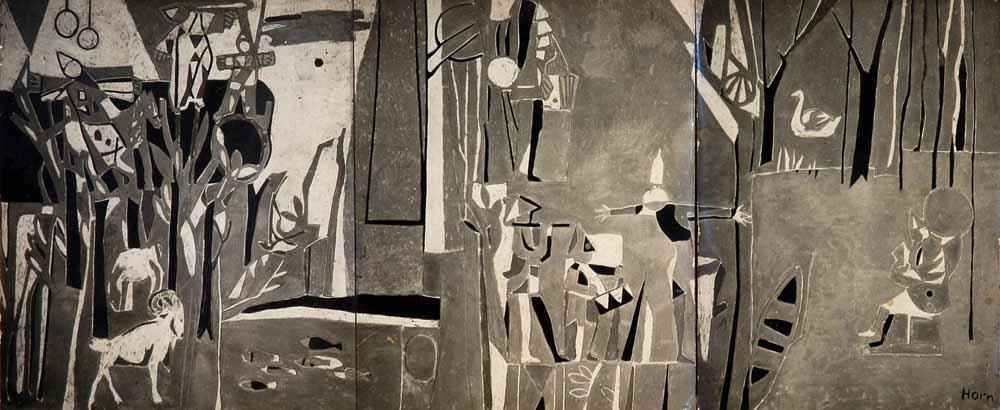 sgraffito voor Marcanti ca 1948