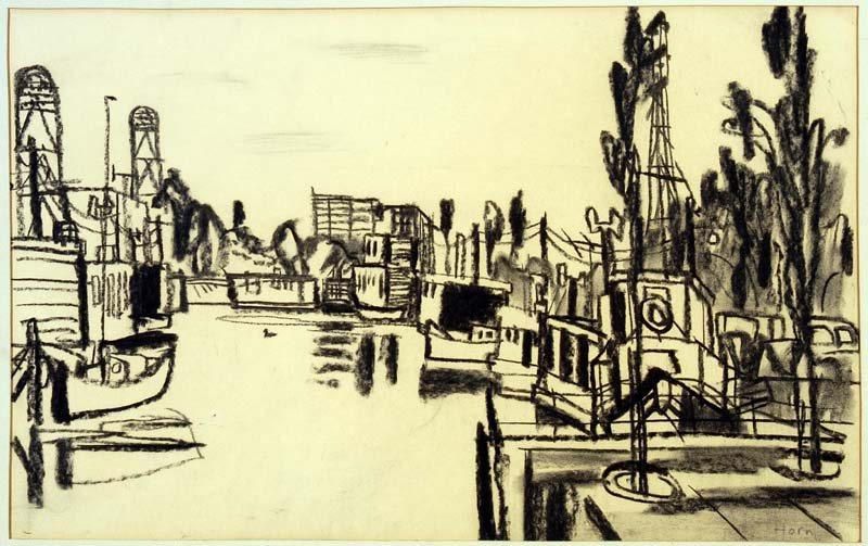 Lex Horn, IJsbaanpad, ca 1960