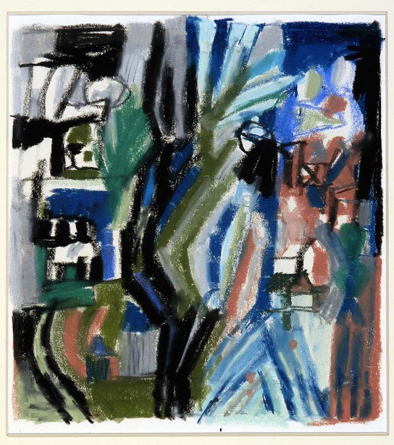 Lex Horn ontwerp wandtapijt De Levensboom, 1963