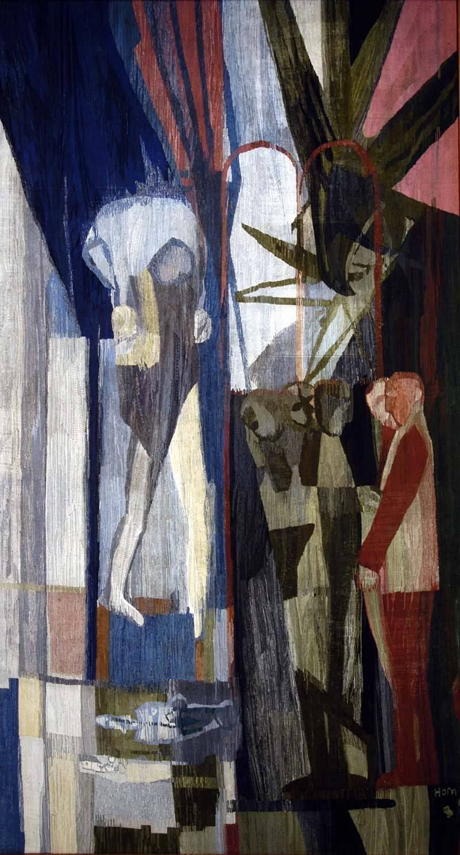 Lex Horn wandtapijt De Goede Herder, Paleis van Justitie Arnhem, 1962