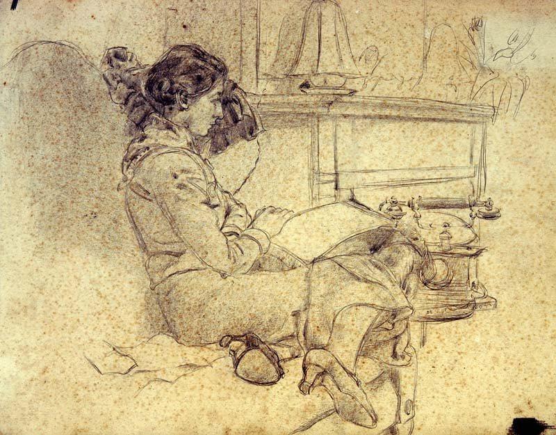 Lex Horn portret van Hesje (Horn)