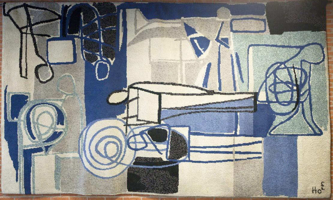 Lex Horn, vloerkleed, De Doelen Rotterdam, 1956