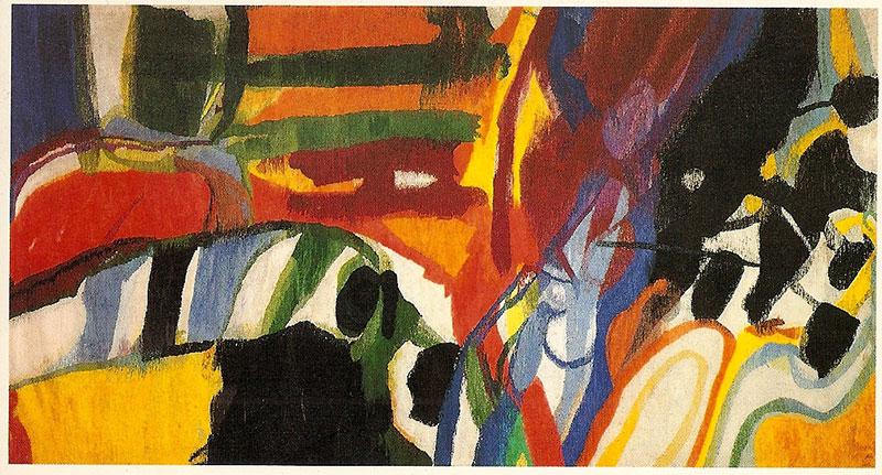 Lex Horn, wandtapijt Rijnlands Lyceum Oegstgeest, 1967-1968