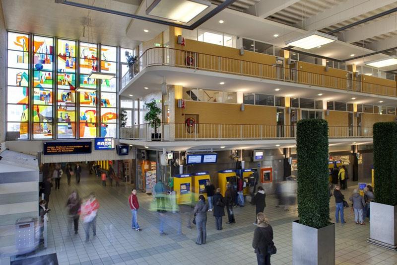 Lex Horn, glasappliqué station Eindhoven, 1955